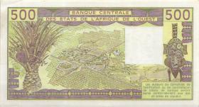 Elfenbeinküste / Ivory Coast P.106An 500 Francs 1990 (1)