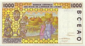 West-Afr.Staaten/West African States P.111Ab 1000 Francs 1992 (1)