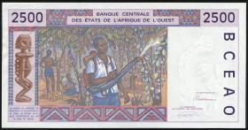 Elfenbeinküste / Ivory Coast P.112Ab 2500 Francs 1993 Elfenbeinküste (1/1-)