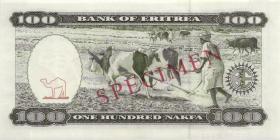 Eritrea P.06s 100 Nakfa 1997 Specimen (1)