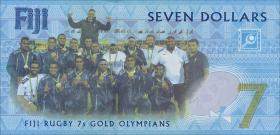 Fiji Inseln / Fiji Islands P.120 7 Dollars (2017) Gedenkbanknote (1)