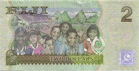 Fiji Inseln / Fiji Islands P.109b 2 Dollars (2012) (1)