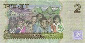 Fiji Inseln / Fiji Islands P.109b 2 Dollars (2012) (1)