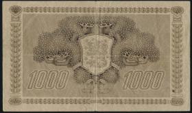 Finnland / Finland P.067 1000 Markkaa 1922 (1941-44) Litt.C (4)