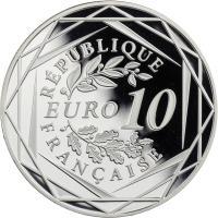 Frankreich 10 Euro 2015 Gallischer Hahn PP