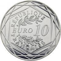 Frankreich 10 Euro 2015 Gallischer Hahn
