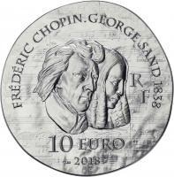 Frankreich 10 Euro 2018 George Sand