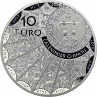 Frankreich 10 Euro 2018 Jahr des Hundes