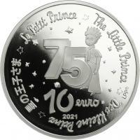 """Frankreich 10 Euro 2021 75 Jahre """"Der kleine Prinz"""" Buch"""