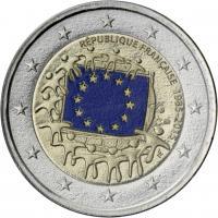 Frankreich 2 Euro 2015 30 Jahre EU-Flagge im Blister
