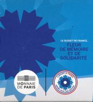 Frankreich 2 Euro 2018 Kornblume PP