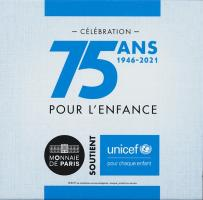 Frankreich 2 Euro 2021 75 Jahre UNICEF PP
