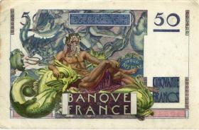 Frankreich / France P.127a 50 Francs 1946 (3)