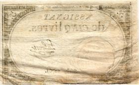 Frankreich / France P.A076 Assignat 5 Livres 1793 (3)