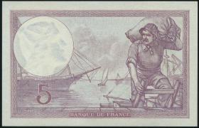 Frankreich / France P.072e 5 Francs 1933 (1)