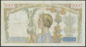 Frankreich / France P.097 5000 Francs 1939 (3)