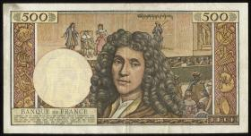 Frankreich / France P.145a 500 Neue Francs 1963 Moliere (3)