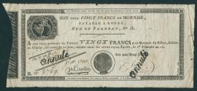 Frankreich / France P.S245 Assignat 20 Francs (1797-1802) Rouen (4-)