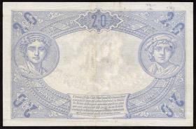 Frankreich / France P.068b 20 Francs 1912 (3+)