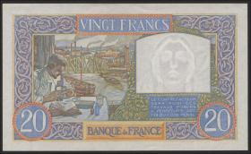 Frankreich / France P.02a 20 Francs 7.12.1939 (1+)