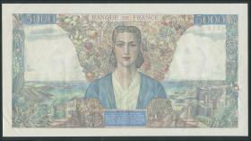 Frankreich / France P.103a 5000 Francs 1942 (2+)