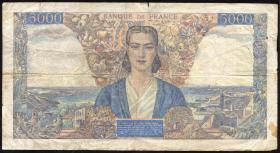Frankreich / France P.103c 5000 Francs 1945 (4)