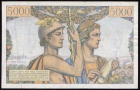 Frankreich / France P.131c 5000 Francs 2.1.1953 (2)