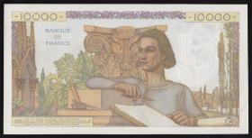 Frankreich / France P.132d 10.000 Francs 1954 (1)