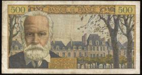 Frankreich / France P.137b 5 Neue Francs auf 500 Francs 1959 (4)