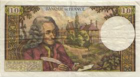Frankreich / France P.147c 10 Francs 1968 (3-)