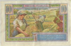 Frankreich / France P.M07 10 Francs (1947) Militärausgabe (3+)