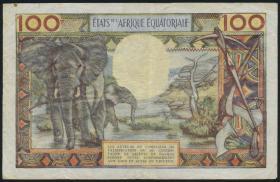 Äquat.-Afrikan.-Staaten P.3c 100 Francs (1963) C (3)