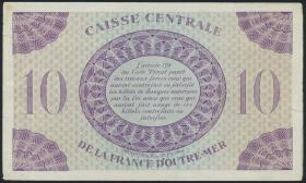 Fra.-Äquatorialafrika/F.Equatorial Africa P.16b 10 Francs L. 1944 (2)