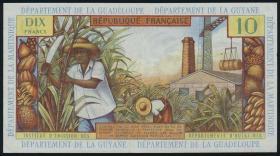 Franz. Antillen/French Antilles P.08b 10 Francs (1964) (3+)