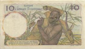 Franz. Westafrika / French West Africa P.37 10 Francs 1951 (3)