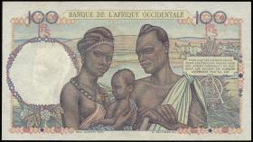 Franz. Westafrika / French West Africa P.40 100 Francs 1948 (1/1-)