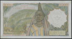 Franz. Westafrika / French West Africa P.42 1000 Fr. 1954 (2/1)