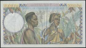 Franz. Westafrika / French West Africa P.43 5000 Fr. 1950 (1/1-)
