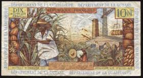 Franz. Antillen / French Antilles P.05a 10 Nouveaux Francs (1963) (3-)