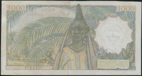 Franz. Westafrika / French West Africa P.42 1000 Fr. 1954 (3)