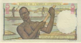 Franz. Westafrika / French West Africa P.36 5 Francs 1943 (1)