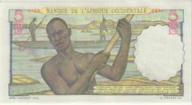 Franz. Westafrika / French West Africa P.36 5 Francs 1948 (1)
