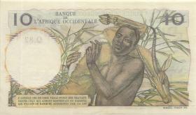 Franz. Westafrika / French West Africa P.037 10 Francs 1950 (1/1-)