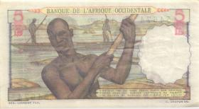 Franz. Westafrika / French West Africa P.37 10 Francs 1952 (3+)