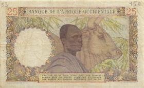 Franz. Westafrika / French West Africa P.038 25 Francs 1948 (3)