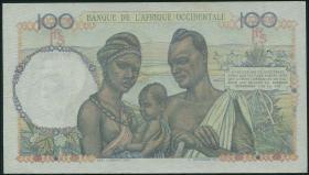 Franz. Westafrika / French West Africa P.040 100 Francs 1948 (2)