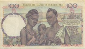 Franz. Westafrika / French West Africa P.040 100 Francs 1950 (3+)