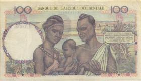 Franz. Westafrika / French West Africa P.40 100 Francs 1950 (3+)