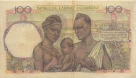 Franz. Westafrika / French West Africa P.040 100 Francs 1952 (3+)