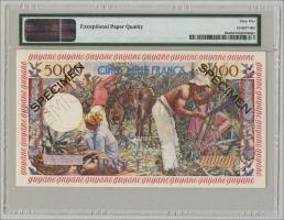 Französisch Guyana / French Guiana P.28s 5000 Francs (1960) Specimen (1)